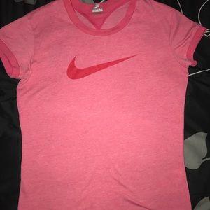 Nike pink short sleeve shirt